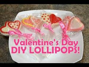 DIY Valentine's LOLLIPOPS & Heart CANDY, Gift Idea for ...