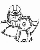 Coloring Gauntlet Infinity Thanos sketch template