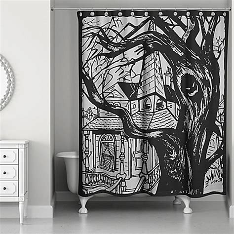Haunted House Shower Curtain Black Bed Bath Beyond