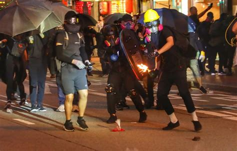 hk street violence attempt  overthrow government official eleven media group