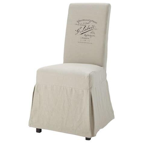 Housse Chaise by Housse De Chaise Margaux Antan Maisons Du Monde