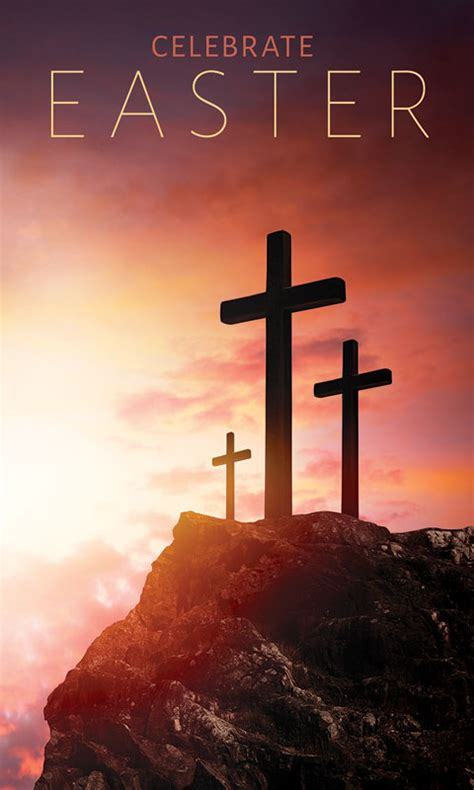 easter crosses hilltop banner church banners outreach