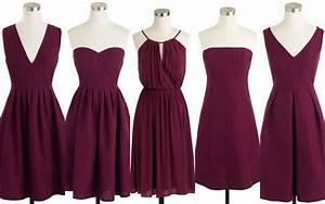 Fall winter weddings cranberry red burgundy bridesmaid for Cranberry dresses for wedding