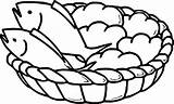 Bread Loaves Coloring Fish Fishes Loaf Drawing Basket Five Bible Boy Colorings Bowl Sheets Banana Getdrawings Goldfish Drawings Printable Awesome sketch template