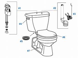 Repair  U0026 Replacement Parts For Crane Flormont Toilets