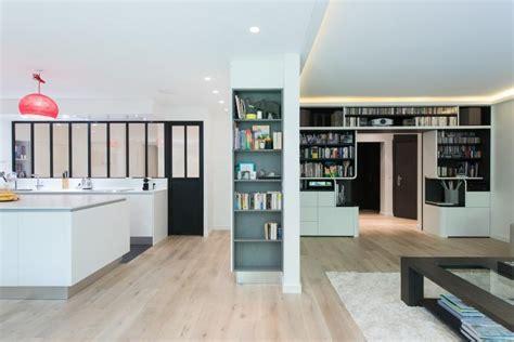 petit ilot central de cuisine bibliothèque de cuisine et bibliothèque salon sur mesure