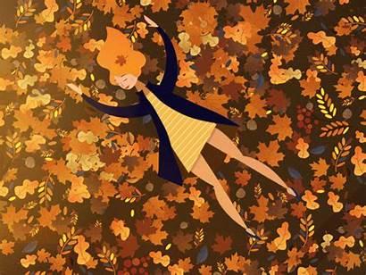 Autumn Fall Hello Gifs Animated Cat Tania