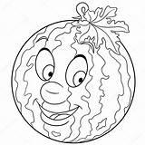 Freehand Kleurplaat Watermeloen Kleurboek sketch template