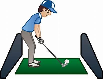 Clipart Golf Practice Clip Range Driving Football