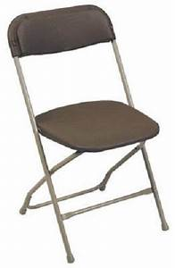 Lot Sale Of  10  Brown Plastic Party Folding Chairs W