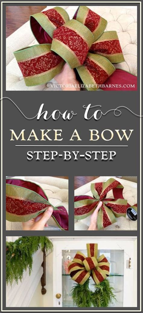step by step how to make christmas decor how to make a bow a step by step tutorial