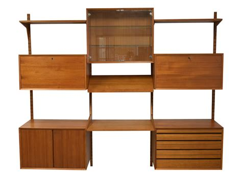 mid century wall unit mid century modern adjustable wall unit chairish