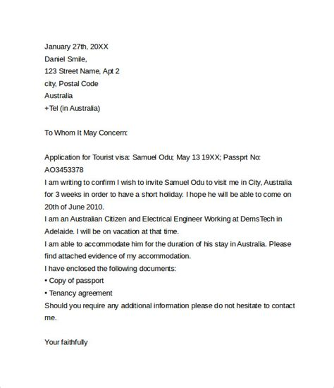 invitation letter to usa invitation letter for visa sle