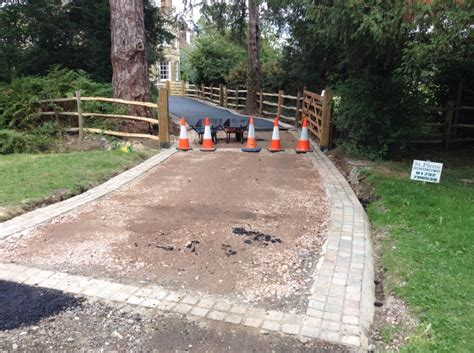 Commercial Tar And Chip Driveway