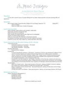 wedding planner assistant resume sles event planner resume event planning