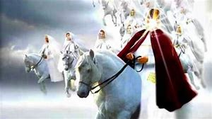 Image result for the lord returns on a white horse