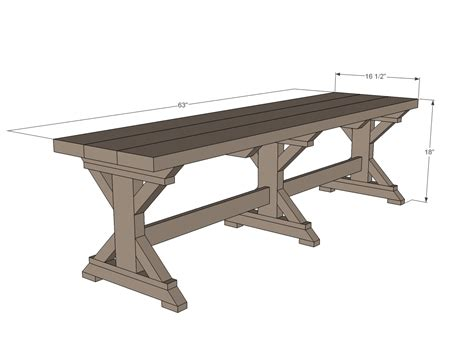 Standard Dining Room Table Size Metric by Farmhouse Bench Woodworking Plans Woodshop Plans