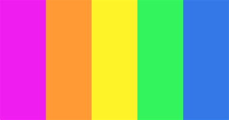 Retro Vibrant Color Scheme » Blue » SchemeColor.com