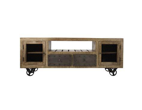 meuble tv industriel bois meuble tv bois industriel vical home