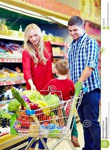 Family Shopping In Grocery Market Stock Photo - Image ...