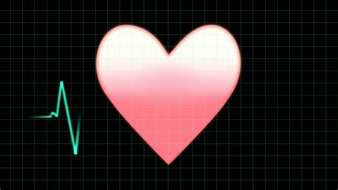 Pink Cartoon Heart Animation On Moving Background. Stock