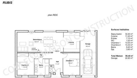 plan de maison 3 chambres awesome plan maison plain pied couleur maison le plan de