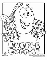 Bubble Coloring Guppies Molly Pages Print sketch template