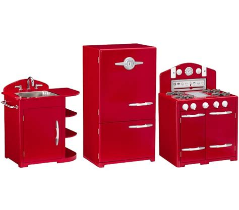 Red Retro Kitchen Sink, Icebox & Oven Set  Pottery Barn Kids