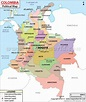 Political Map of Colombia | Armenia (Colombia) | Pinterest ...