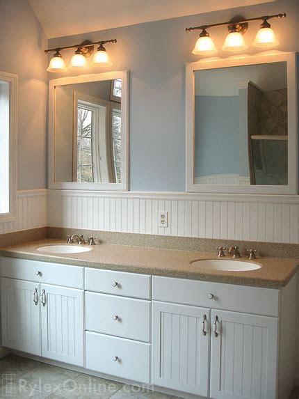 wainscot double bathroom vanity orange county ny rylex