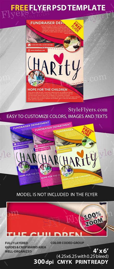 free printable flyer fundraiser free psd flyer template free 11693 styleflyers