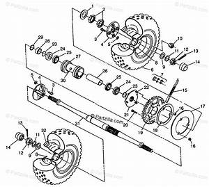 Polaris Atv 1998 Oem Parts Diagram For Rear Wheel Drive