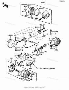 Kawasaki Motorcycle 1981 Oem Parts Diagram For Turn