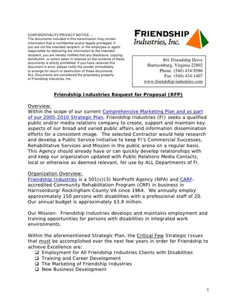 Download Rfp Technology Template Free