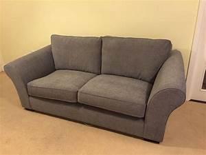 Ledbury sofa large 3 seater in plush chenille mid grey for Large plush sectional sofa