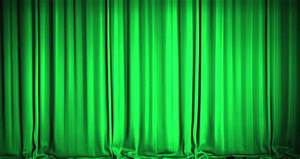 Light Up Theater Sign A Green Velvet Curtain Opening Stock Footage Video 100