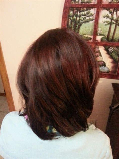 fall hair dark brown   red tint level  brown