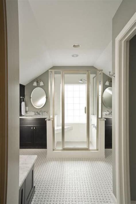 suzie renewal design build master bathroom  vaulted