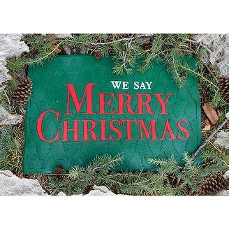 Merry Doormat by We Say Merry Doormat
