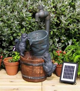 Maulwurfbekämpfung Im Garten : solarbrunnen wasserhahn und eichh rnchen 129 99 ~ Michelbontemps.com Haus und Dekorationen