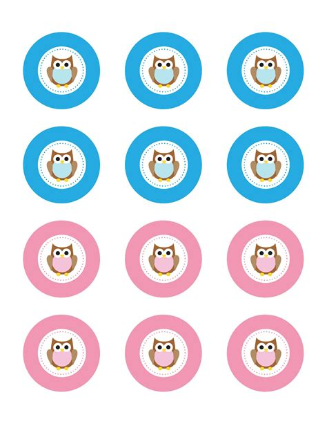 owl cupcake toppers  printable repeat crafter