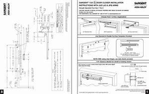 Sargent A7741a 1331 Series Door Closer Installation
