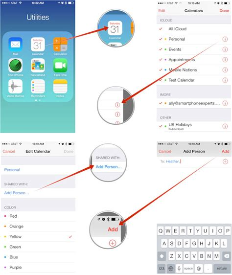 how to a calendar on iphone how to or make icloud calendars on iphone and