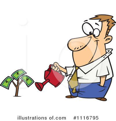 Finance Clipart #1116795 - Illustration by toonaday