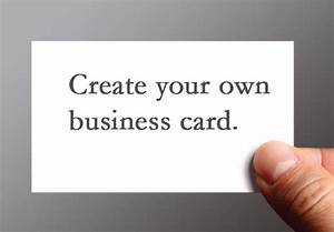 Create your own business cards design image collections for How to make your own business cards free