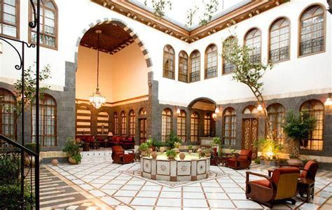 syrian  arabic house architecture islamic architecture courtyard house