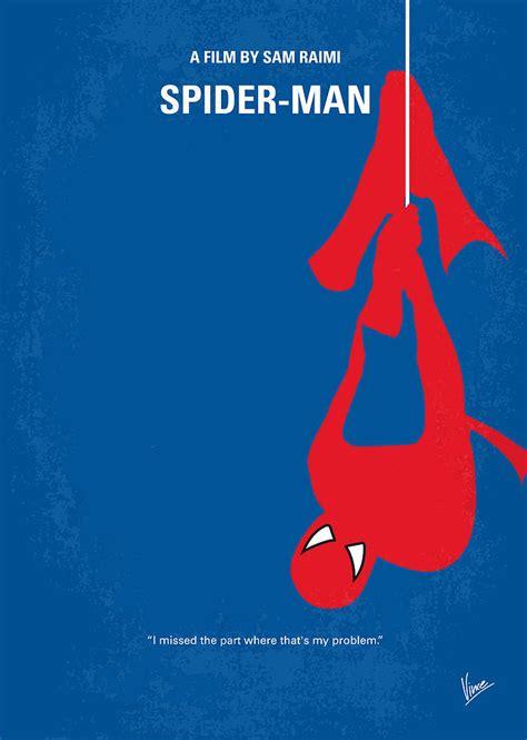 No201 My Spiderman Minimal Movie Poster Digital Art By