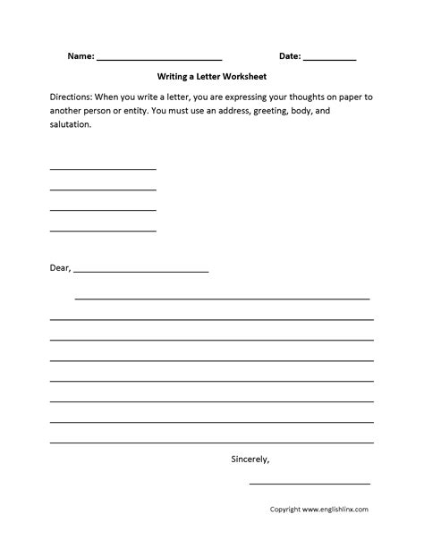 englishlinx writing worksheets