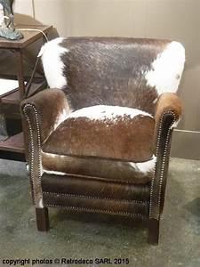 Fauteuil Peau De Vache : fauteuil turner peau de vache chehoma d co campagne 6897105v ~ Teatrodelosmanantiales.com Idées de Décoration