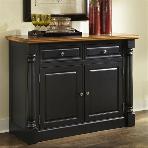 Black Sideboards And Buffets by Home Styles Monarch Dining Buffet Black Oak Buffets